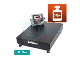 Balança Digital de Plataforma BK 500 - Cap. 500kg Div. 100g 49x71cm